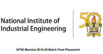 NITIE Mumbai Class of 2018-20 Bags Rs 20.88 LPA Average Salary at Final Placement 2020